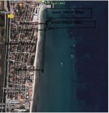 Plage de la Capte, plan de circulation